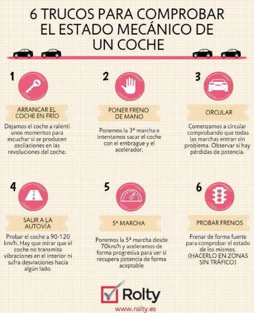 infografia trucos para conocer estado mecánico de un vehículo