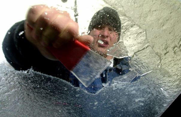 hielo parabrisas