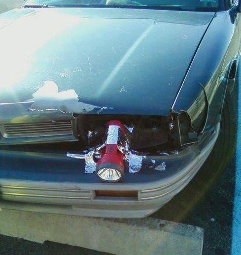 linterna coche