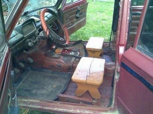 silla madera coche